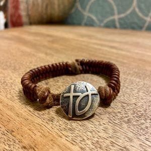 James Avery Leather Bracelet (RETIRED)